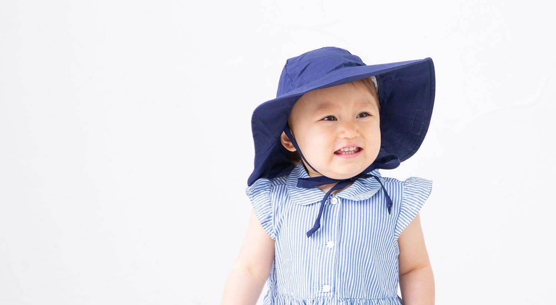 ベビー帽子紫外線対策帽子赤ちゃんぼうし